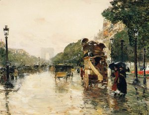 Frederick Childe Hassam - Champs Elysees, Paris