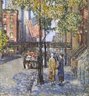Frederick Childe Hassam - Flags on the friar's club
