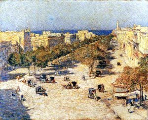 Frederick Childe Hassam - View of the Paseo del Prado