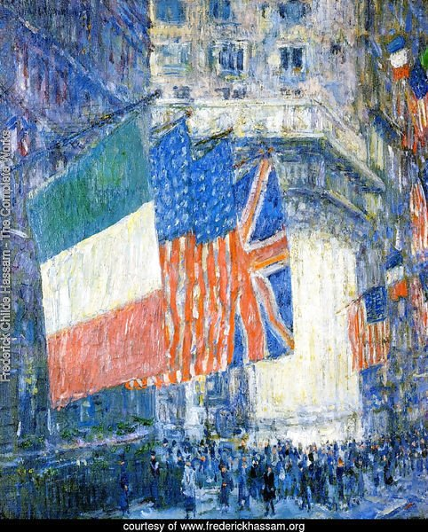 Avenue of the Allies (aka Flags on the Waldorf)