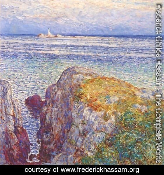 Frederick Childe Hassam - White island light (isles of shoals at sundown)