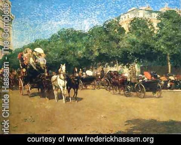 Frederick Childe Hassam - Grand Prix Day (also known as Le Jour de Grand Prix)